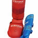 Комплект защиты ног для каратэ WKF